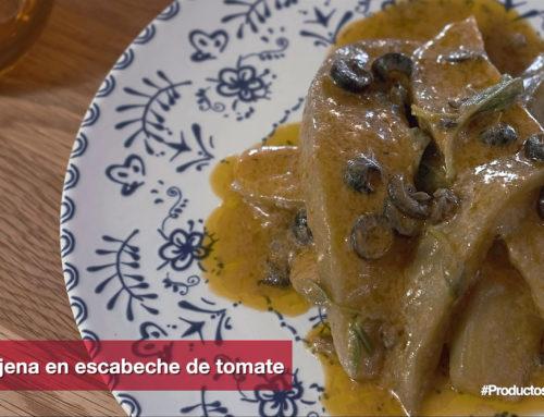 Berenjena con escabeche de tomate